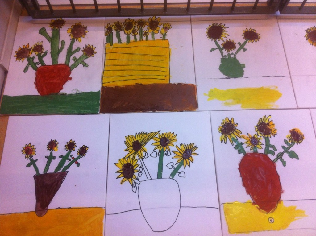 Kunstproject van OBS De Noordkaap in Oostwold, over het leven en werken van Van Gogh.