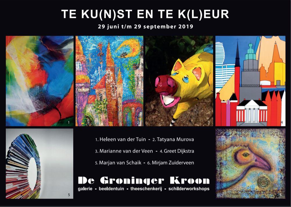 Uitnodiging Te Ku(n)st en Te K(l)eur - Galerie De Groninger Kroon